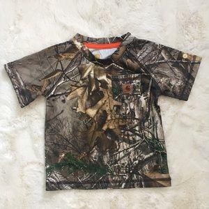 Boys Carhartt Camoflauge Shirt Size 12 months
